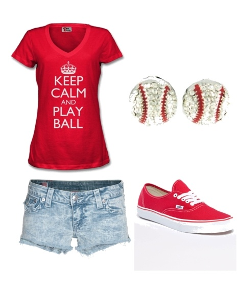 I love baseball :): Style, Baseb Outfits, Cute Outfits, Games Day Outfits, Plays Ball, Baseball Seasons, Baseball Outfits, Earrings, Baseb Seasons