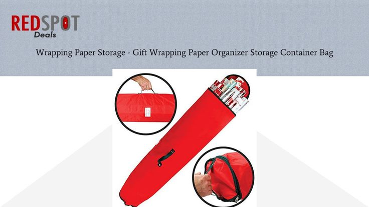 Buy Wrapping Paper Storage - Gift Wrapping Paper Organizer Storage Container Bag