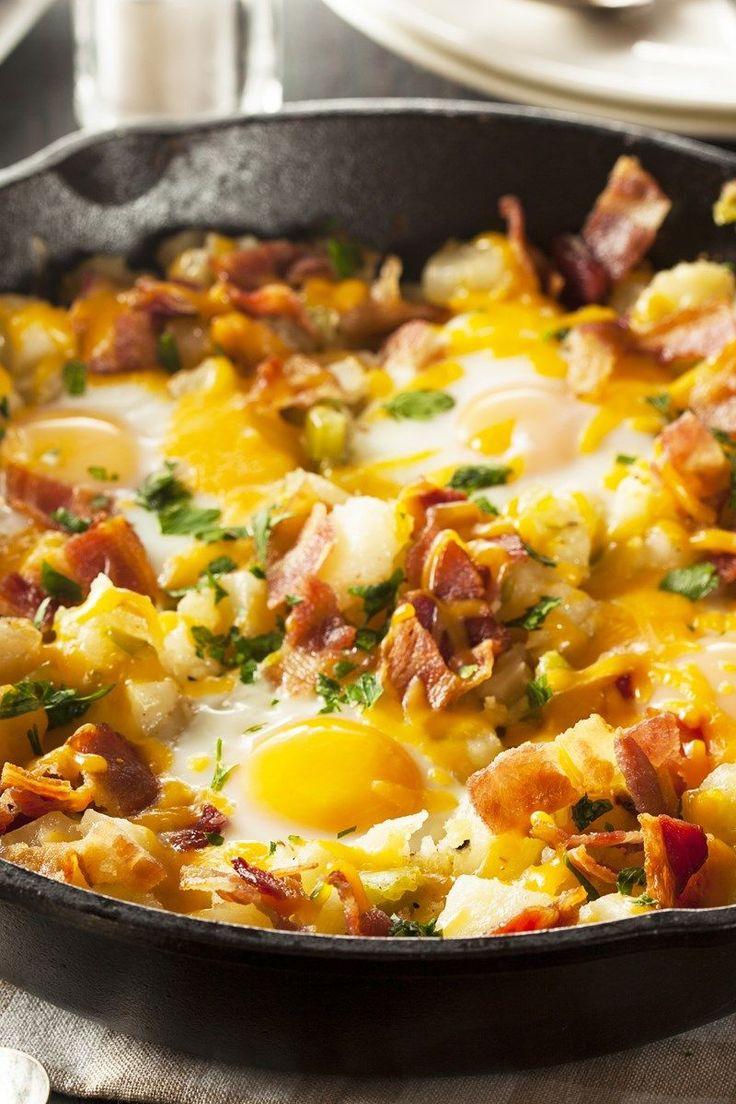 Bacon, Egg, and Potato Breakfast Skillet Recipe