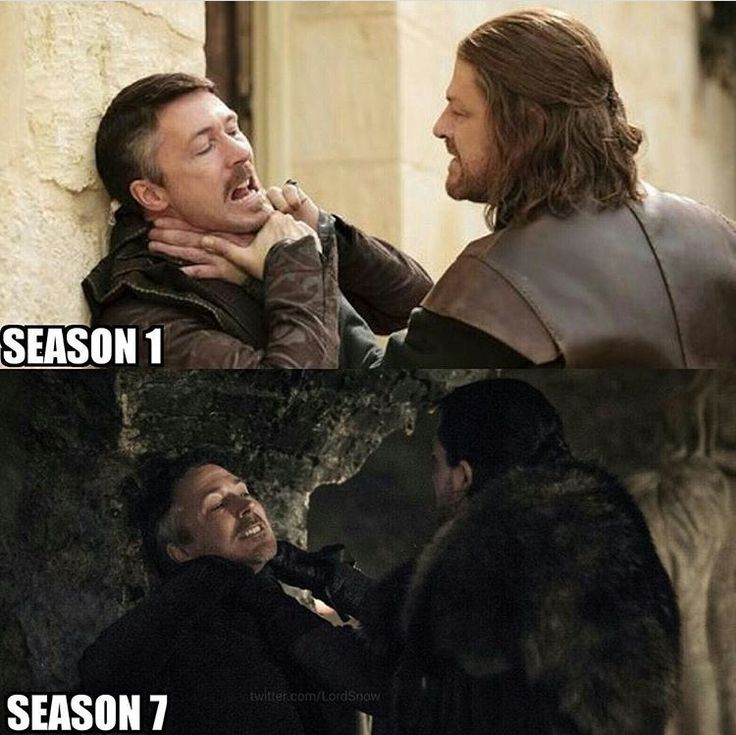 There are lots of similarities between season 1 and season 7, just different characters!