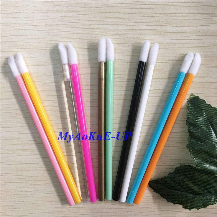 Wholesale 500 pcs 10 Colors Lipstick Gloss Disposable Lip Brush Pen Wands Applicator Brush Professional Beauty Makeup Tools