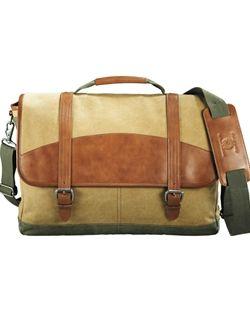 Cutter & Buck® Legacy Cotton Compu-Messenger Bag- 9840-55
