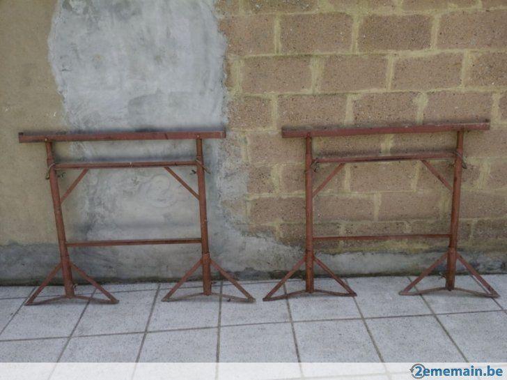 2 Tréteaux de maçon en acier très solide ( étancon ) - A vendre