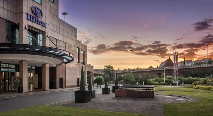 Hilton Glasgow Glasgow In Glasgow city centre, the 5-star Hilton Glasgow Hotel is set in the heart of the financial district, with easy access to transport links and the Scottish Exhibition & Conference Centre (SECC).