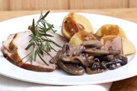 Schweinebraten mit Pilzen RICHTER REZEPTE  Guten Appetit!  www.richter-fleischwaren.de