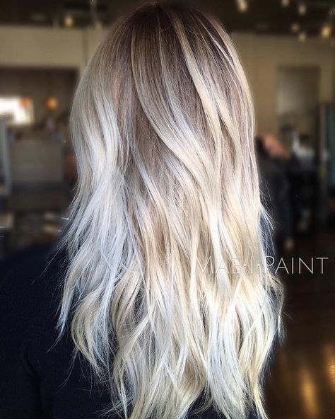 Platinum Blonde Balayage