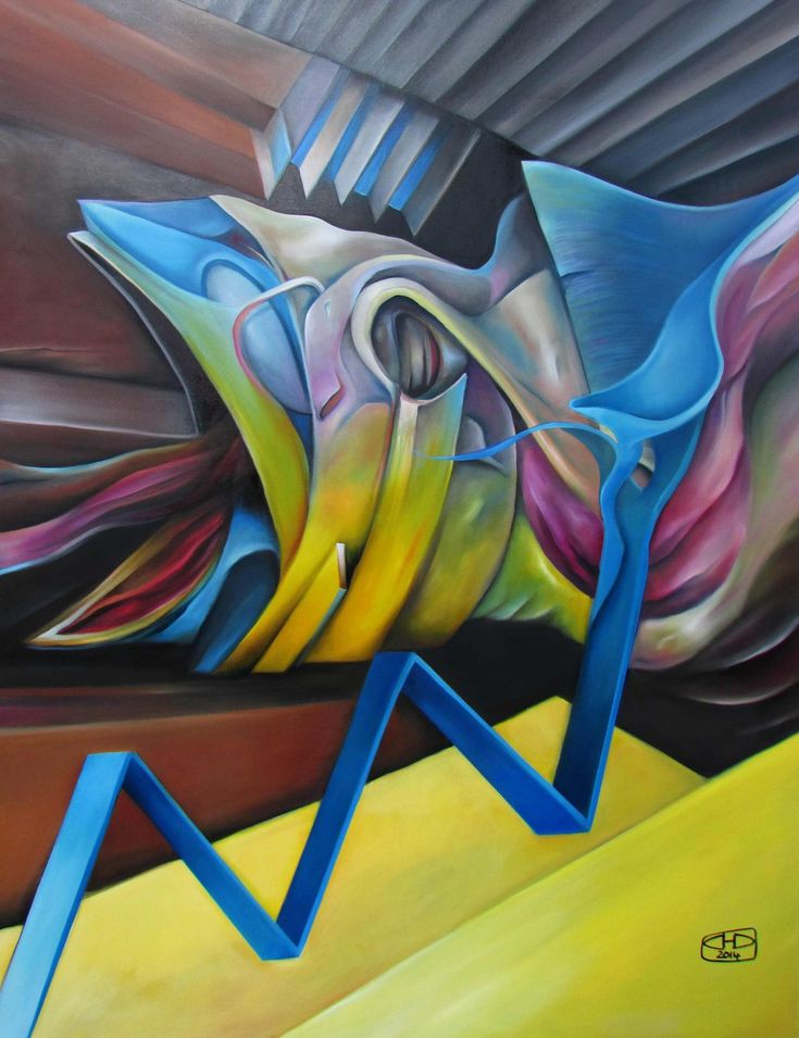 """oil painting - """"Výkřik"""""""