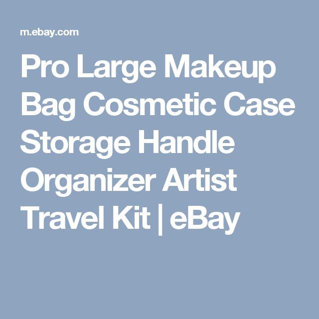 Pro Large Makeup Bag Cosmetic Case Storage Handle Organizer Artist Travel Kit  | eBay