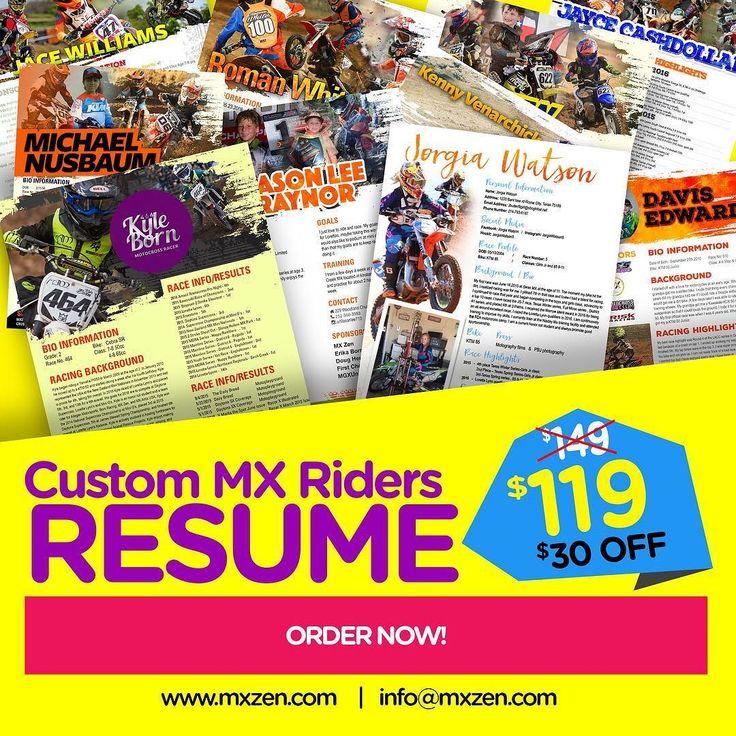 749 best MX Zen images on Pinterest Zen, Instagram and 50cc - motocross sponsorship resume