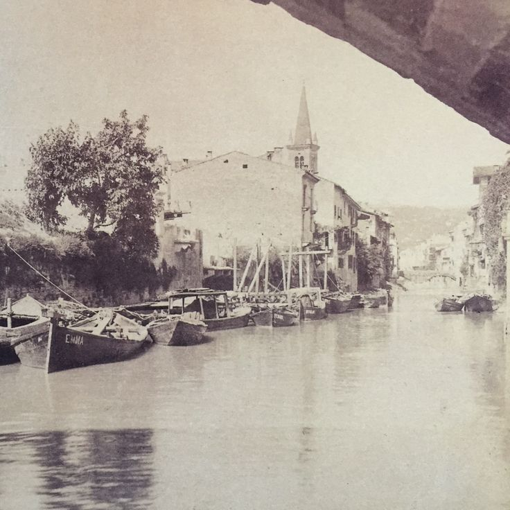 Verona storica - Canal dell' Acqua Morta ( Dead Wather Canal ) - 1882
