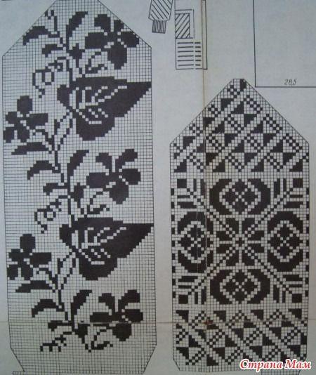 Схемы для вязания варежек - Вязание - Страна Мам:
