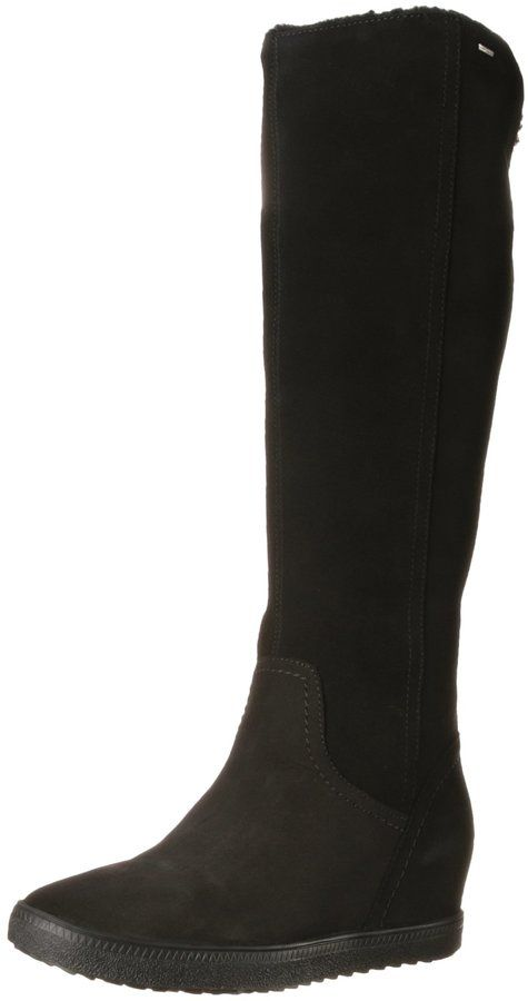 Geox Women's D Amaranth High B Ab Tall Boots, Black, 37 EU/7