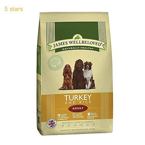 (Rating: 5 stars) #10: James Wellbeloved Dog Food Adult Turkey and Rice Kibble 15kg This is a top choice among the best selling products in Pet Supplies  category. Click below to see its Availability and Price in your country.