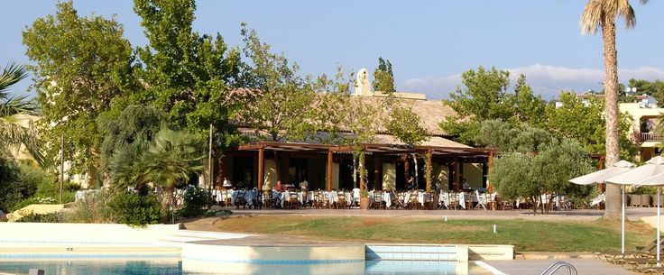 """Agapi"" Restaurant is located in the village square and the pool nearby. Offers a rich choice of our Chef's selection of Greek, Cretan and international #cuisine."