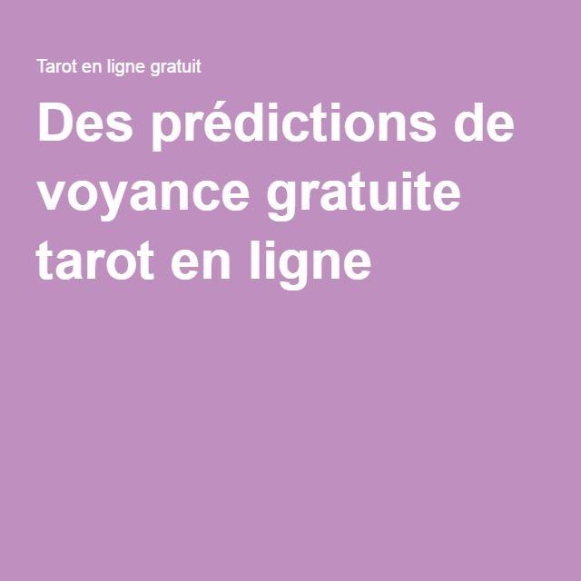 Des prédictions de voyance gratuite tarot en ligne