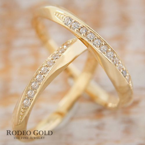 Gold engagement rings TCR81306