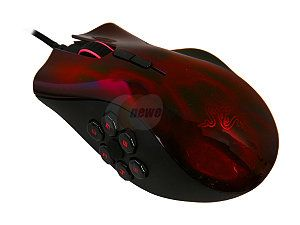 RAZER Naga Hex Wraith Red Edition RZ01-00750200-R3U1 11 Buttons 1 x Wheel USB Wired Laser 5600 dpi Gaming Mouse