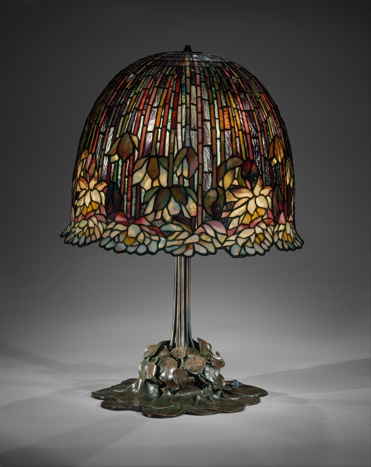 Lamp, Louis Comfort Tiffany (American, Tiffany Studios Leaded Favrile  Glass, Bronze This Water Lily Table Lamp Is One Of Tiffanyu0027s Most  Successfully ...