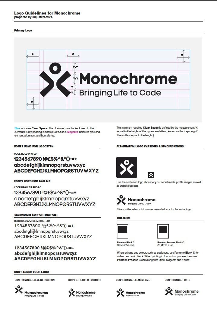 monochrome logo guidelines