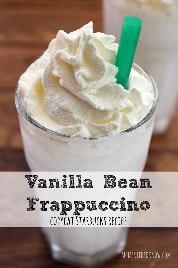 How To Make Vanilla Bean Frappuccino | Copycat Starbucks Recipe
