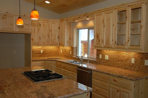 Pine kitchen cabinets | Newly Installed Knotty Pine Kitchen