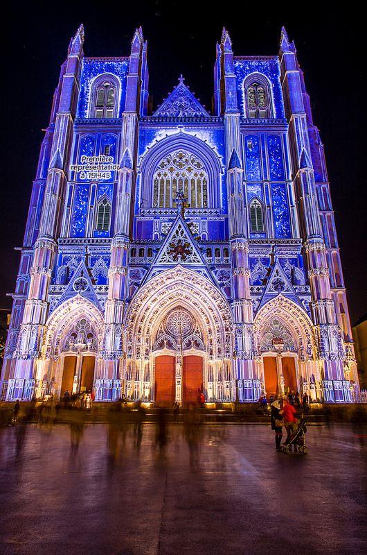 Cathédrale de Nantes, Noël 2014 - Mapping.