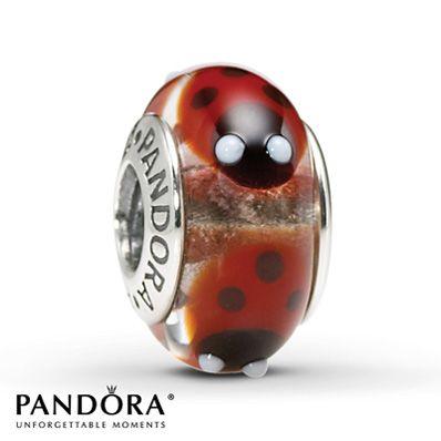 Pandora Red Ladybugs Charm - $35