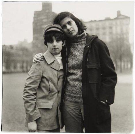Susan Sontag and son-by Diane Arbus.