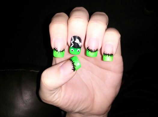 127 best nail arthalloween images on pinterest youtube bride of frankenstein halloween nail art louisville ky prinsesfo Image collections
