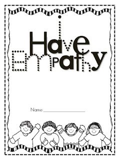 Great free printable book and post about teaching young kids about Empathy