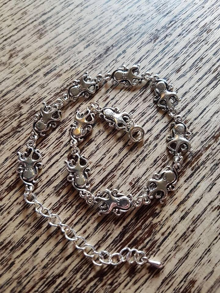 Octopus Anklet by LykoCrafter on Etsy