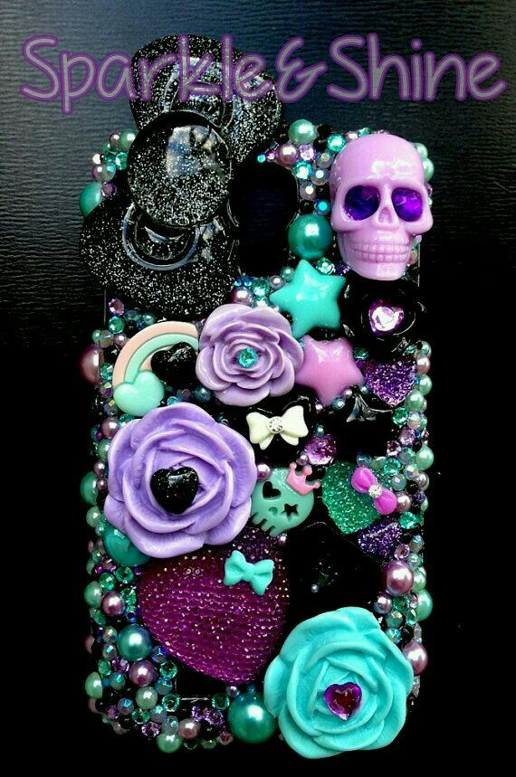 skull bling phone case!