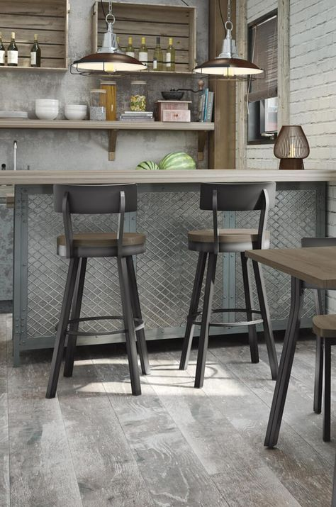 Lauren Swivel Stool With Wood Seat In 2019 Clubhouse