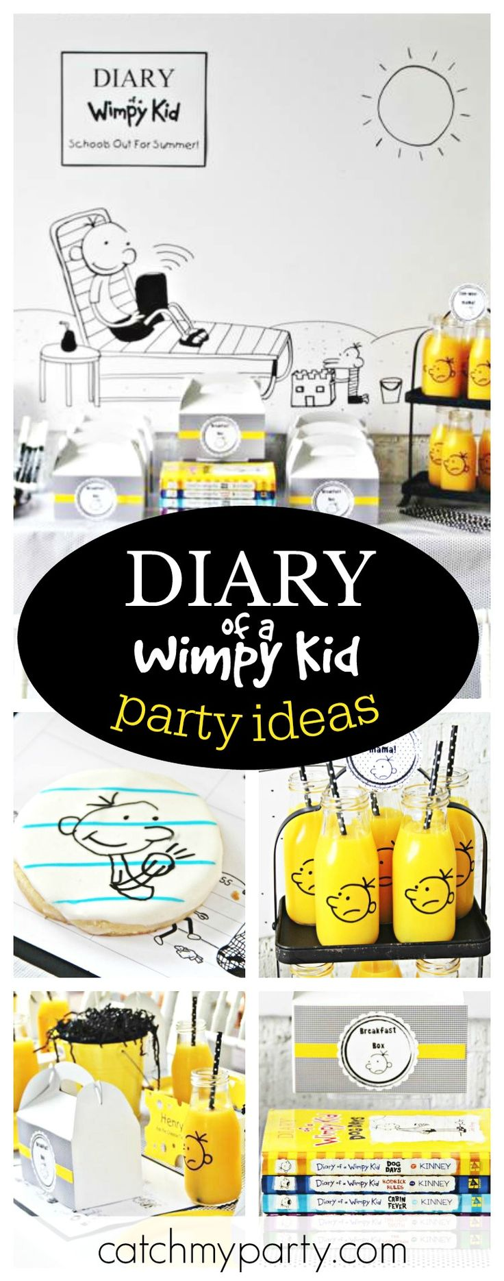 Check out this awesome Diary of a Wimpy Kid Breakfast Club. The Greg cookies are so cool!! See more party ideas and share yours at CatchMyParty.com