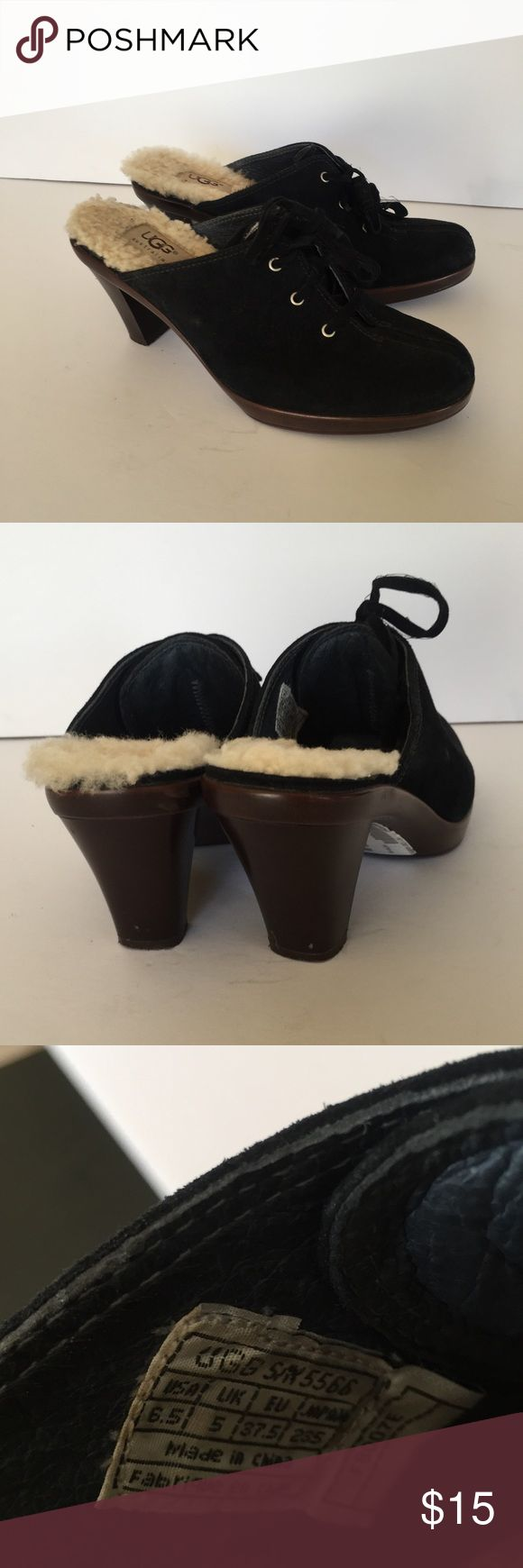 Ugg Women's Mule clogs fur lined Sz 6.5 Great condition. Size 6.5. Minor scuff marks on the back of heel. Shown in pictures UGG Shoes Mules & Clogs