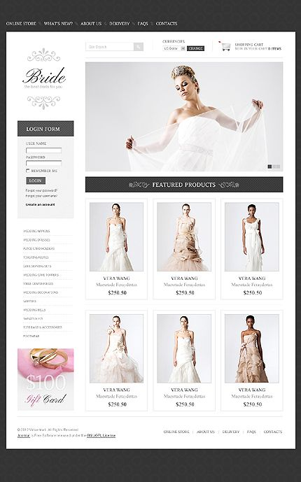 Website Template #37939 - Average price - OK for online store
