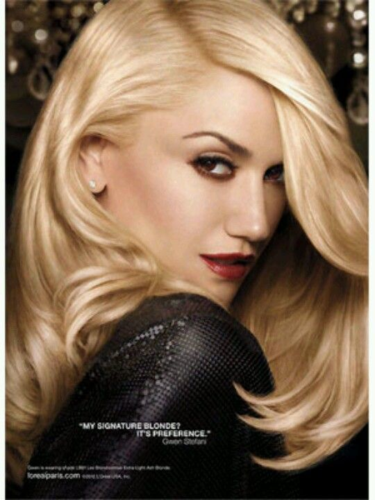 Perfectly blow waved #blonde #hair - Gwen Stefani for Loreal