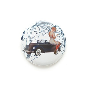 Lady On Car Pocket Mirror now featured on Fab.