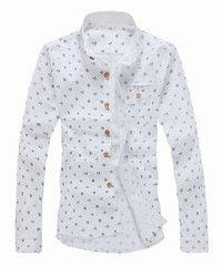 Color Block Turn-down Collar Cotton+Linen Shirt
