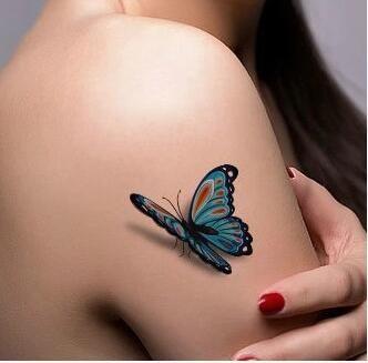 Engelenvleugels Vlinder bat 3D waterdicht anti zweet vos herten mannen en vrouwen bloem arm tattoo tattoo stickers aangebracht(China (Mainland))
