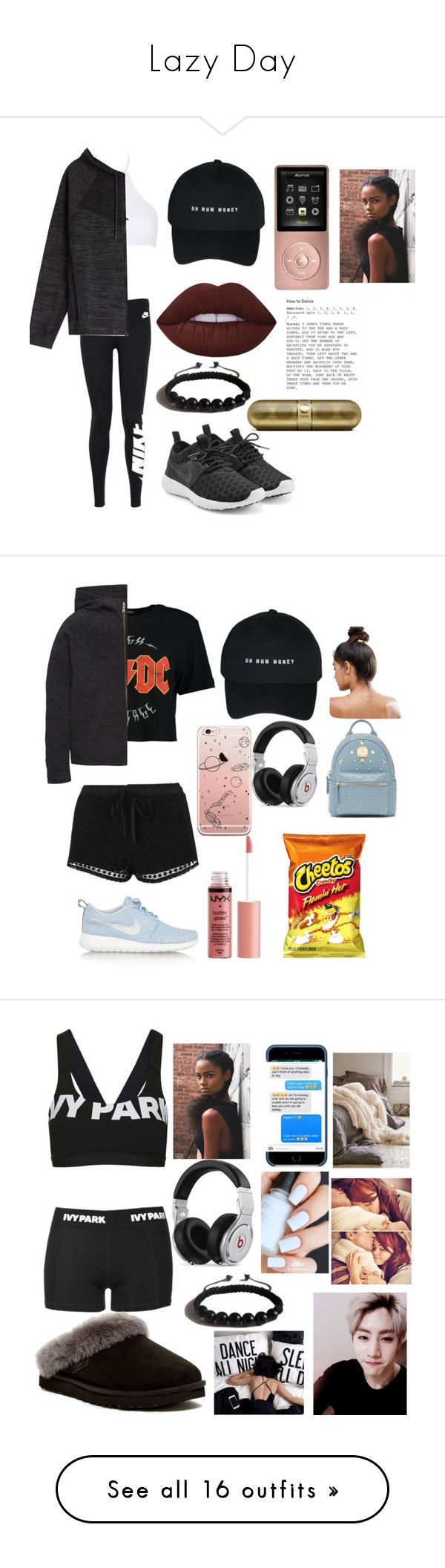 """Lazy Day"" by yourfashionbabe ❤ liked on Polyvore featuring Calvin Klein, NIKE, Shamballa Jewels, Boohoo, Topshop, Beats by Dr. Dre, Kitsch, Bebe, Charlotte Russe and UGG"