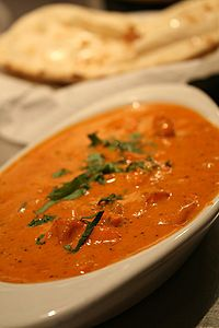 MY FAVORITE!!!!!!!!!!! Chicken Tikka Masala. you can substitute chicken with potatoes! yum!