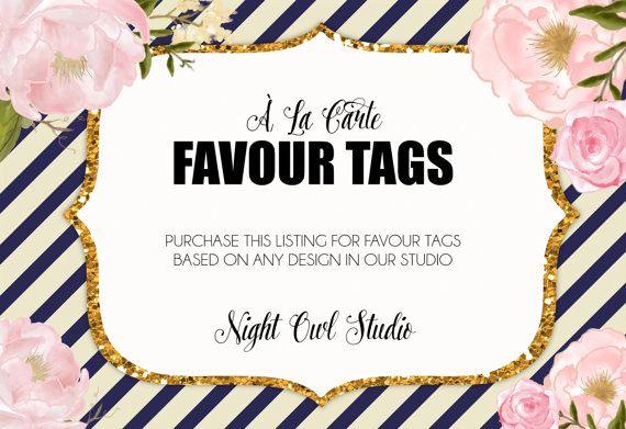 Favour Tags-À La Carte Favour TagsFavor by NightOwlStudioDesign
