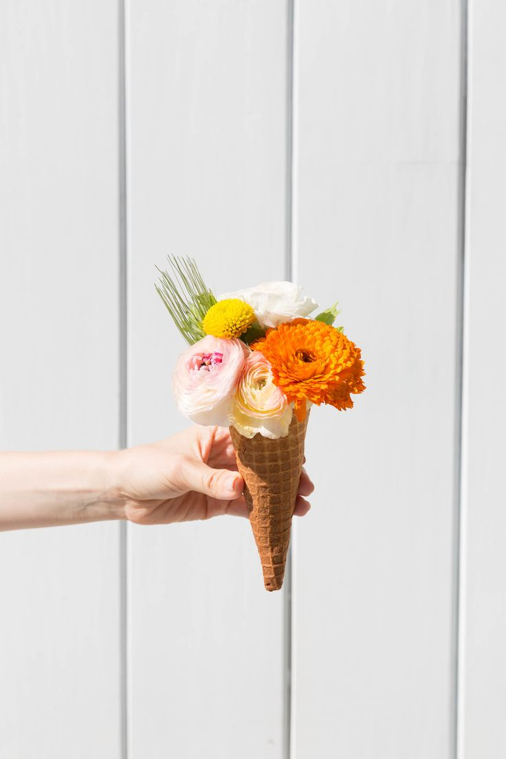 """Wondering what to give your honey as a """"Happy June"""" present? How about a flower cone!"""
