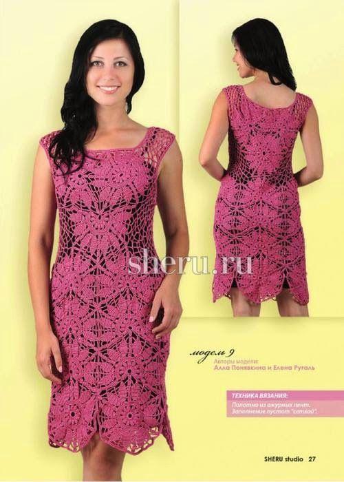 Irish crochet &: 2 эффектных платья