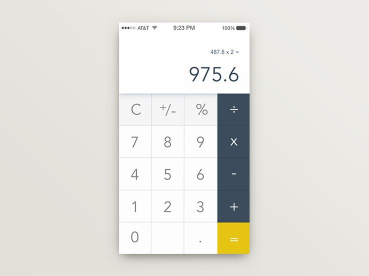 32 best Calculator images on Pinterest Calculator, Mobile ui and - simple credit card calculator