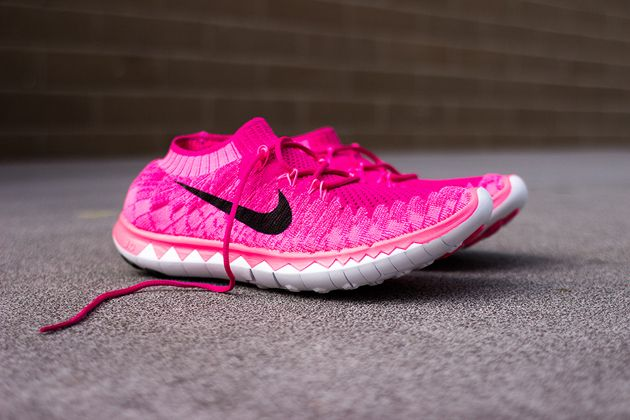 womens nike free flyknit 3.0 red pink