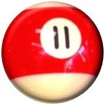 Red Pool Ball 25mm pin badge - £1.00