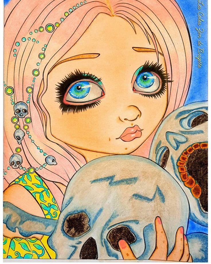 Jasmine Becket Halloween #coloringoninstagram #arttherapie #coloriage #coloringbooks #coloring # ...