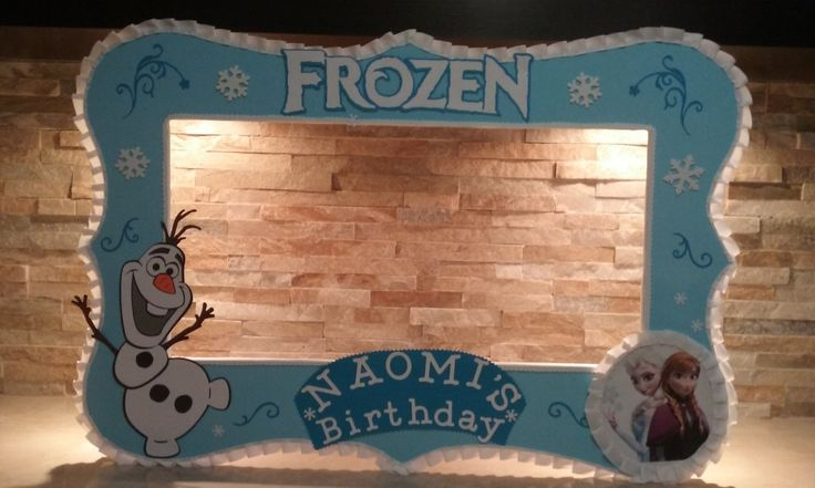 Olaf Frozen Photo Booth Frame by mariscraftingparty on Etsy